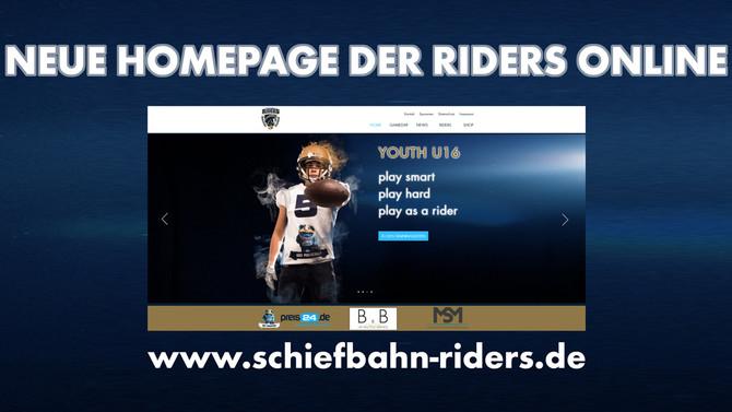 Neue Homepage der Riders ist online
