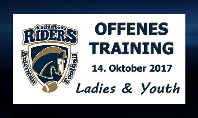 Offenes Training der Jugend und Ladies-Manschaften