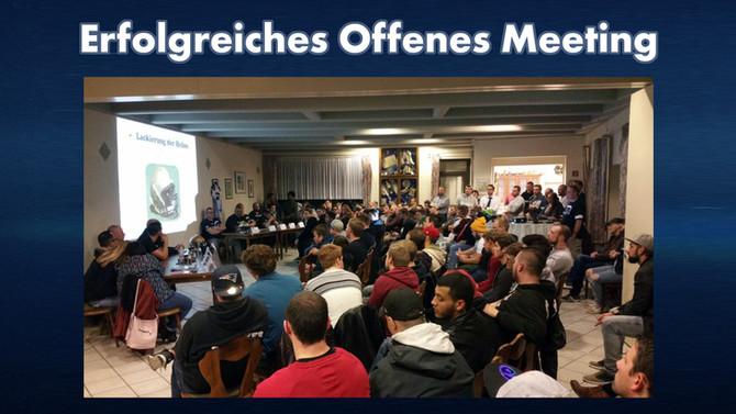 Erfolgreiches Offenes Meeting mit über 100 Teilnehmern