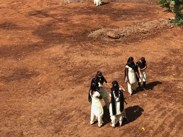 Girls in schoolyard