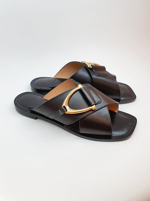 WIVICA Black Sandal Slide