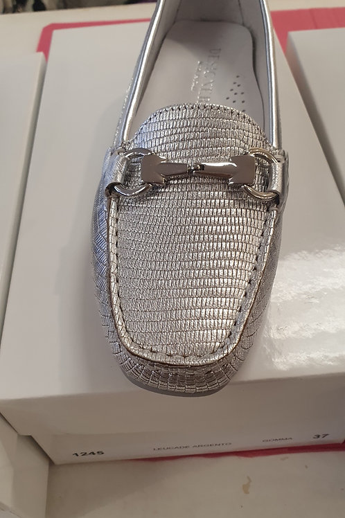 DESIGNERS Silver Loafers