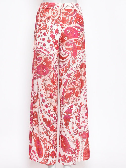 Twinset Pink Flowery Trousers