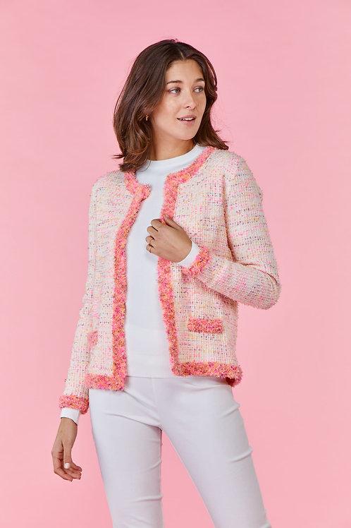 Derhy white/pink cardigan