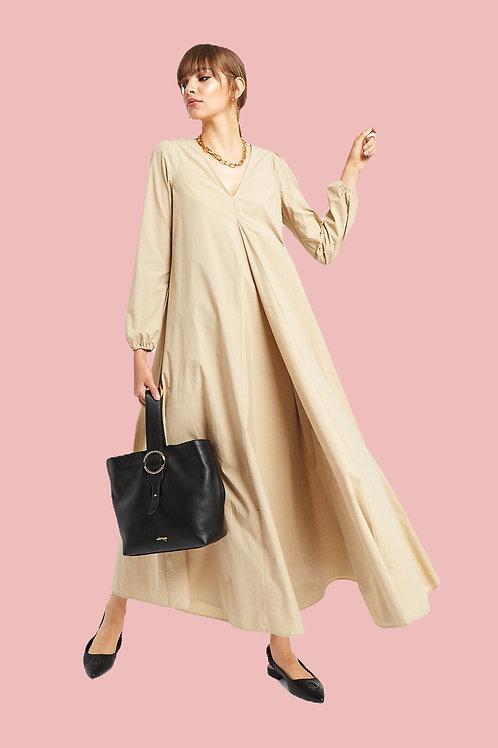 ottod'Ame Oversized Long Poplin Dress