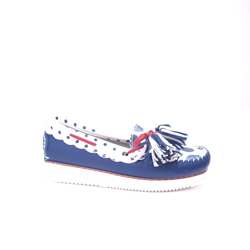 Maria Leon Sail shoe Blue/white