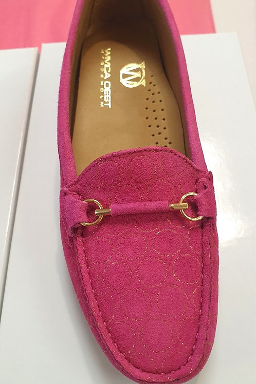 Wivica's Suede Loafers w gold details