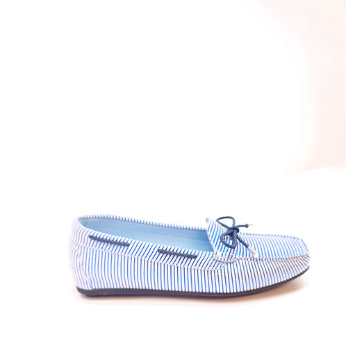 DESIGNERS Blue Shiny Loafers