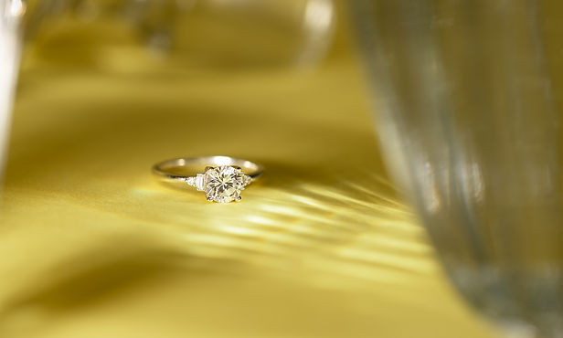 Lydia McCarthy-Keen Luxury Engagement Ring in the Lyra Style