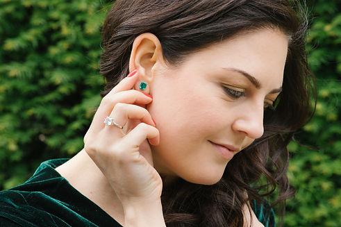 Lydia McCarthy-Keen luxury emerald earri