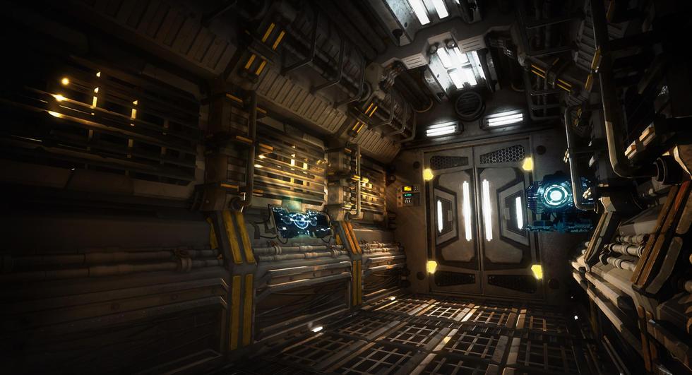 Scifi Space Ship Scene