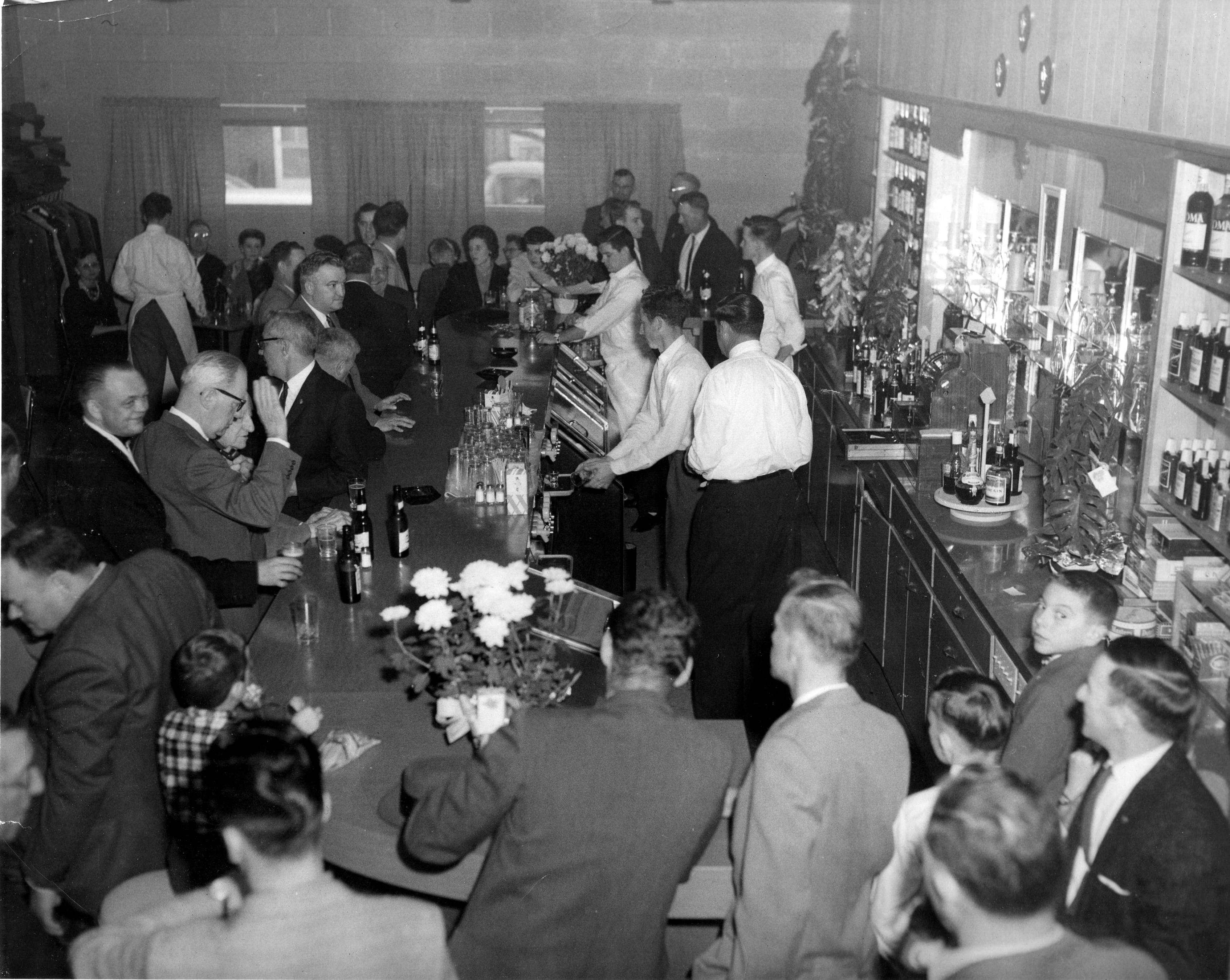 OLD KC HALL BAR ROOM circa 1963
