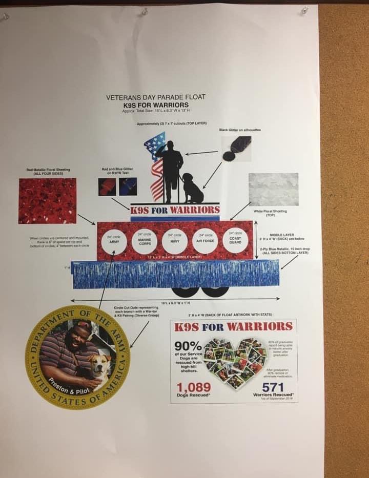 Veterans Day Float Design