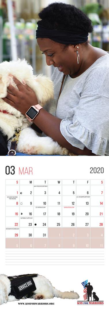 March 2020 Calendar Page