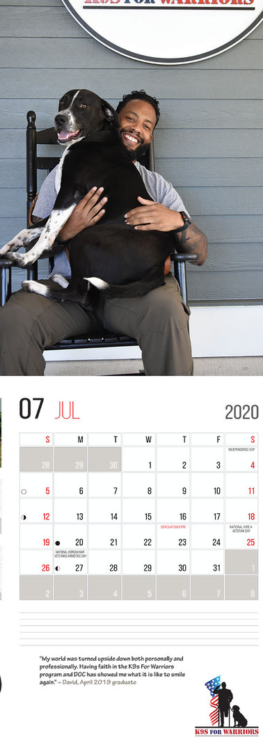 July 2020 Calendar Page