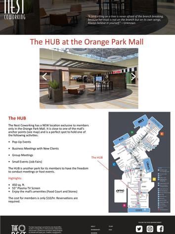 The HUB Web page