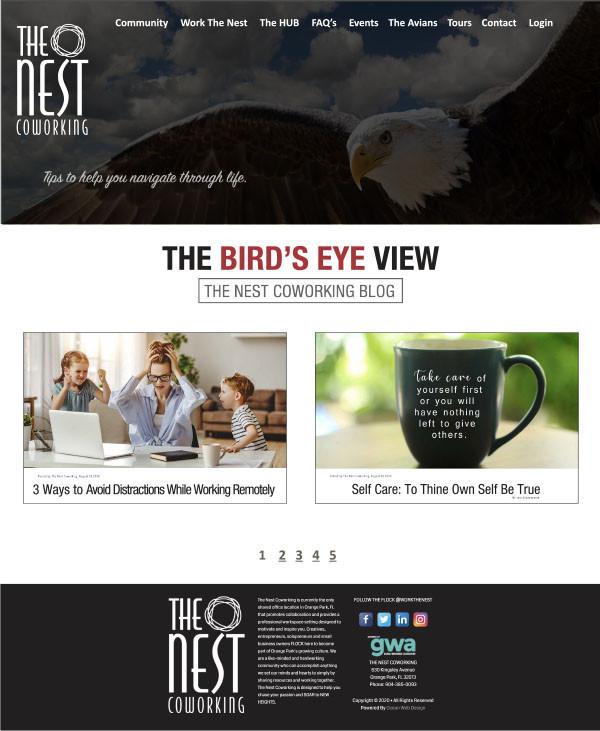 TNC Blog page layout