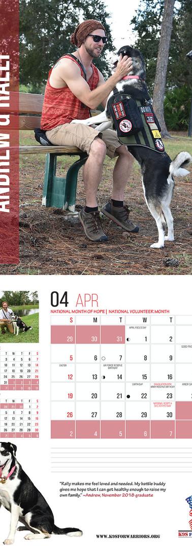 April 2020 Calendar Page