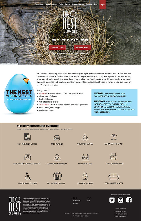 The Nest Homepage