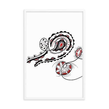 """""""Clovis"""" Original Abstract Drawing by Jennifer Mrozek Weiss"""
