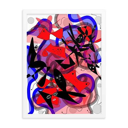 """Title """"Acamar"""" - Abstract Drawing by Jennifer Mrozek Weiss"""