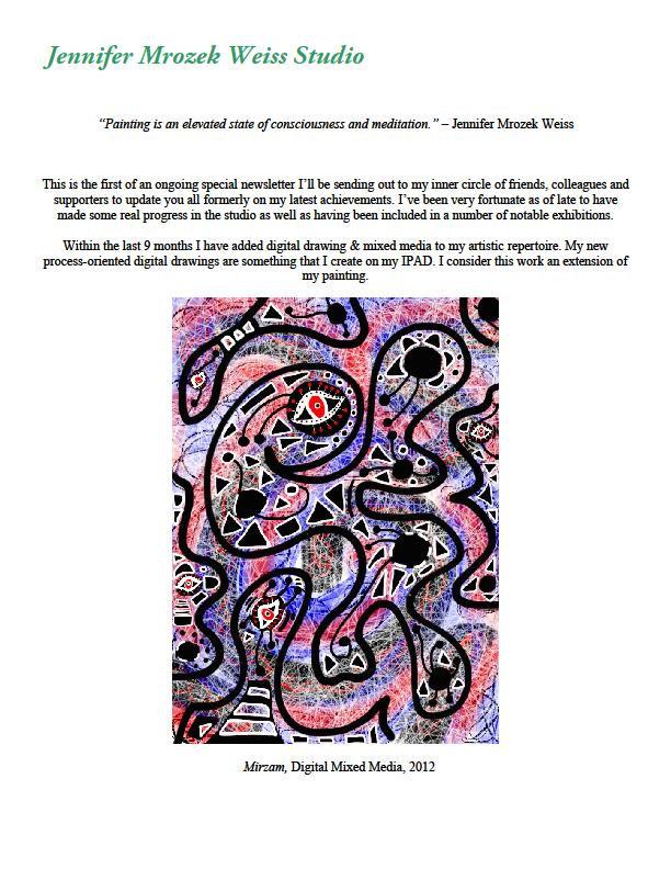 May 2012 | Jennifer Mrozek Weiss - Abstract Art