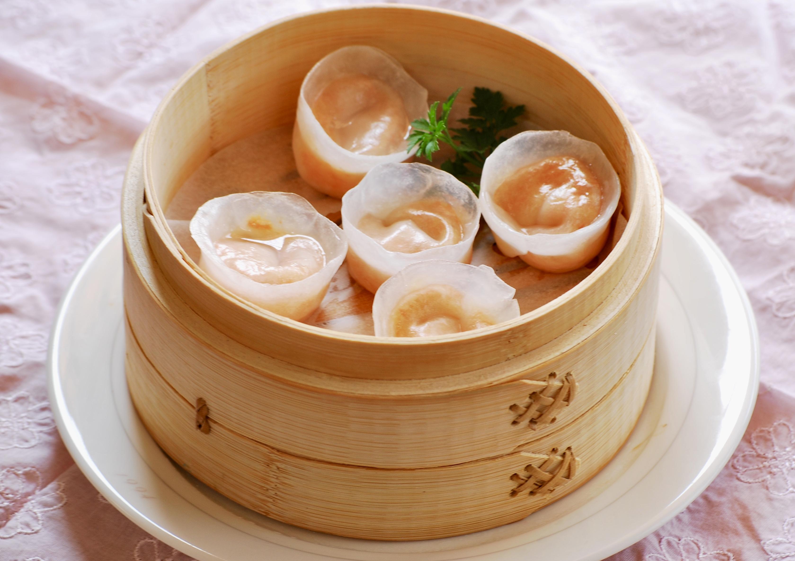 蟹蒸し餃子