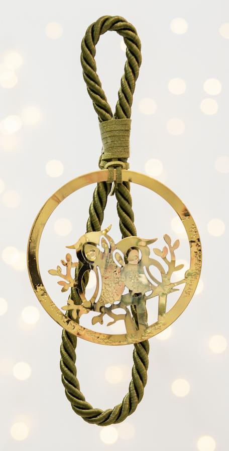 κουκουβάγιες γούρι χειροποίητο - ασήμι & κράμα μετάλλων