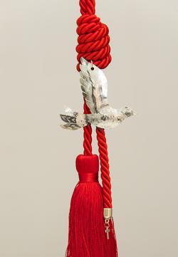 περιστέρι χειροποίητο γούρι - ασήμι & κράμα μετάλλων