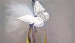 μπομπονιέρα πεταλούδα - ασήμι & κράμα μετάλλων