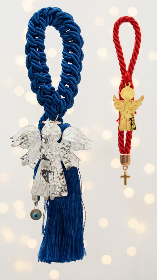 άγγελος χειροποίητο γούρι - ασήμι & κράμα μετάλλων