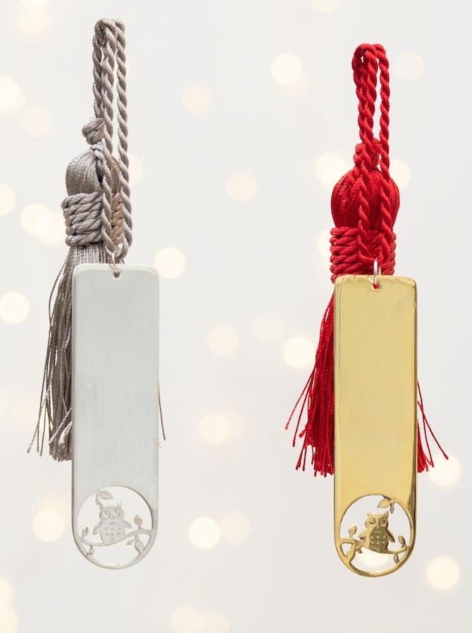 σελιδοδείκτης κουκουβάγια γούρι - ασήμι & κράμα μετάλλων