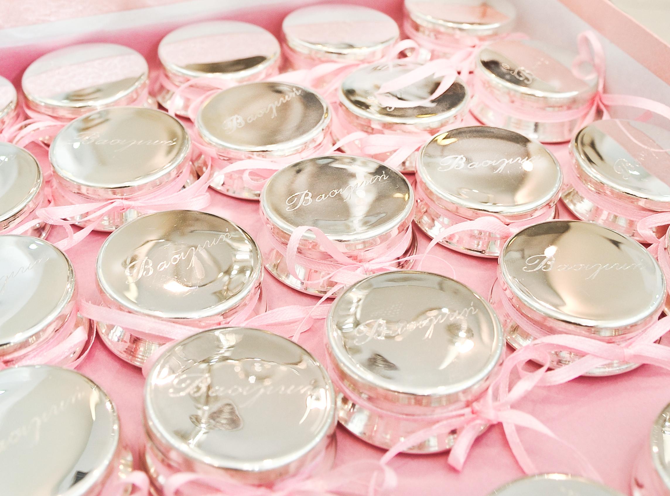 μπομπονιέρα κουτάκι - ασήμι & κράμα μετάλλων