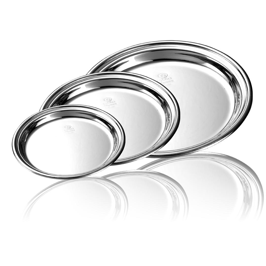 δίσκος στρόγγυλος - ασήμι & κράμα μετάλλων