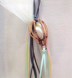 μπομπονιέρα χειροποίητη αερόστατο - ασήμι & κράμα μετάλλων