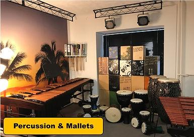 Percussion, mallets,djembe, cajon, conga,stabspiele, marimbaphon, xylophon, bongos
