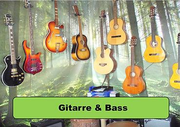 gitarre, bass, kontrabass, ukulele, e-gitarre