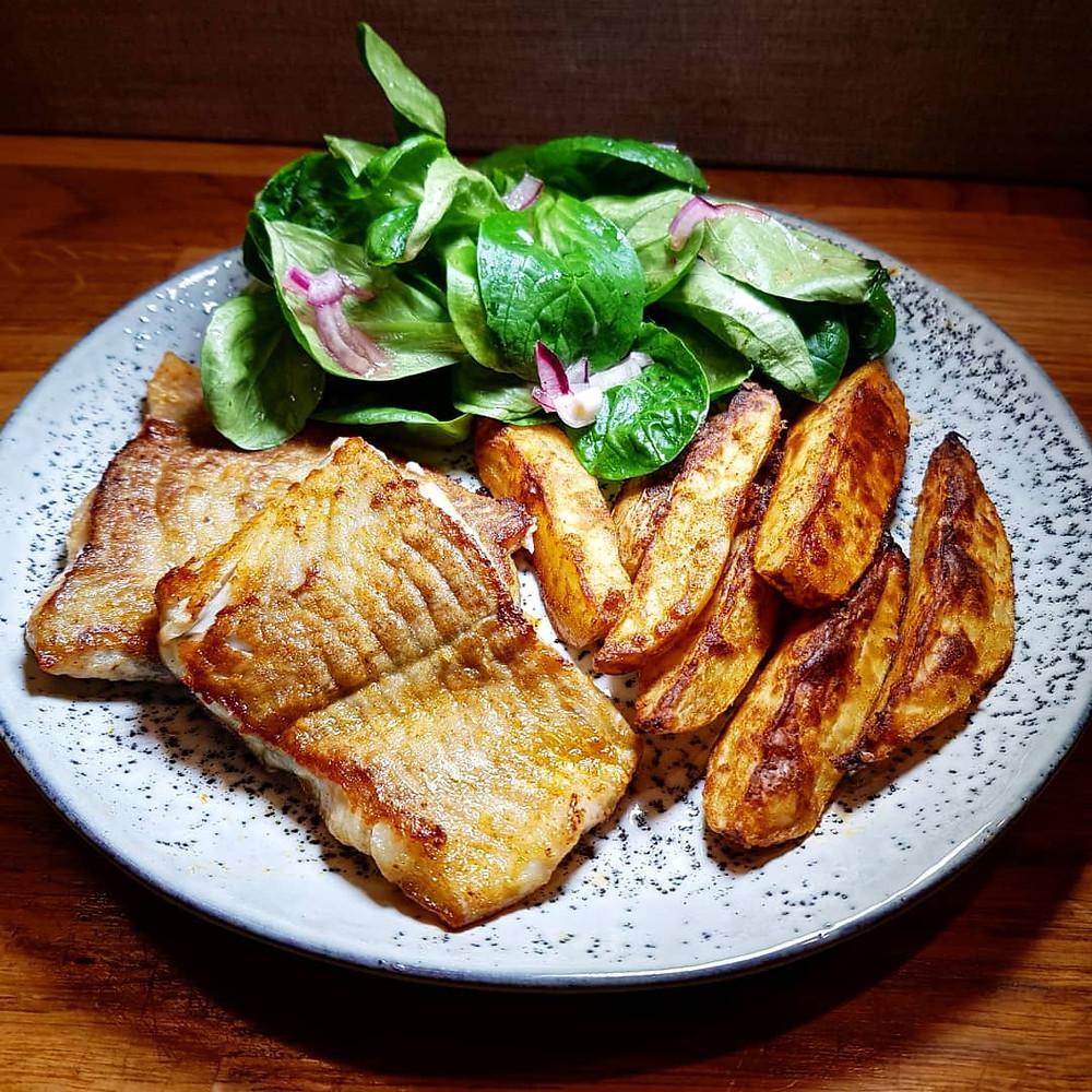 Lachs Kartoffeln Feldsalat