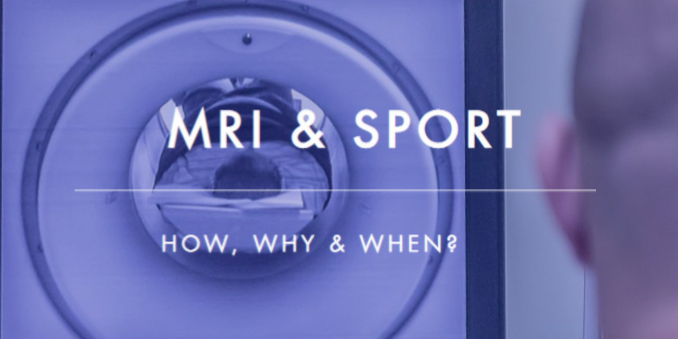 MRI in sports: how, why &  when?