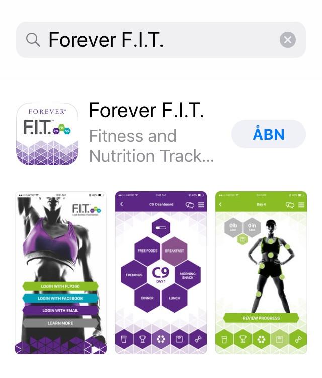 Forever F.I.T. app - dinfitvejleder.dk