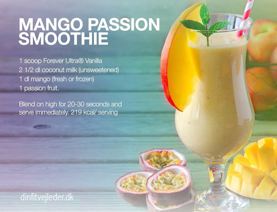 Mango Passion Smoothie til F15 | dinfitvejleder.dk
