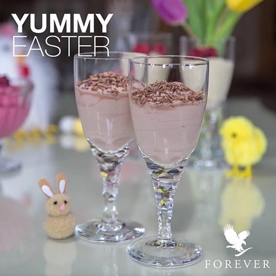 Chokoladecreme dessert med Forever Ultra