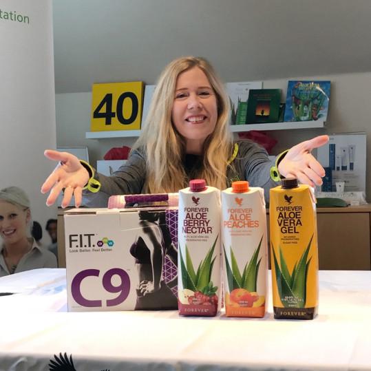 DinFITvejleder.dk med C9 pakke og tre Aloe vera drikke