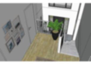 Cage d'escalier étage
