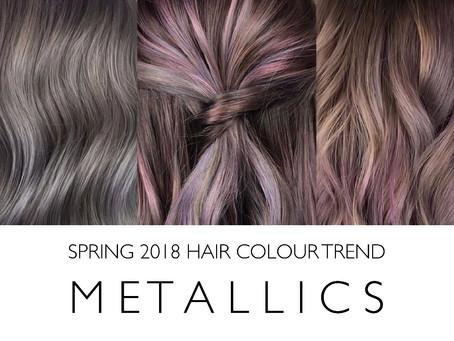 2018 Trending Hair Color: Metallics!