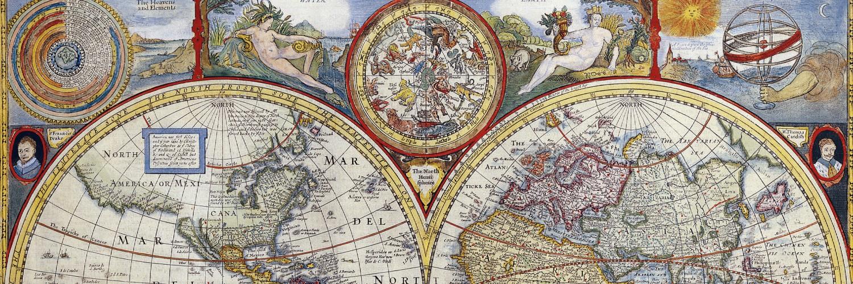 vintage map long