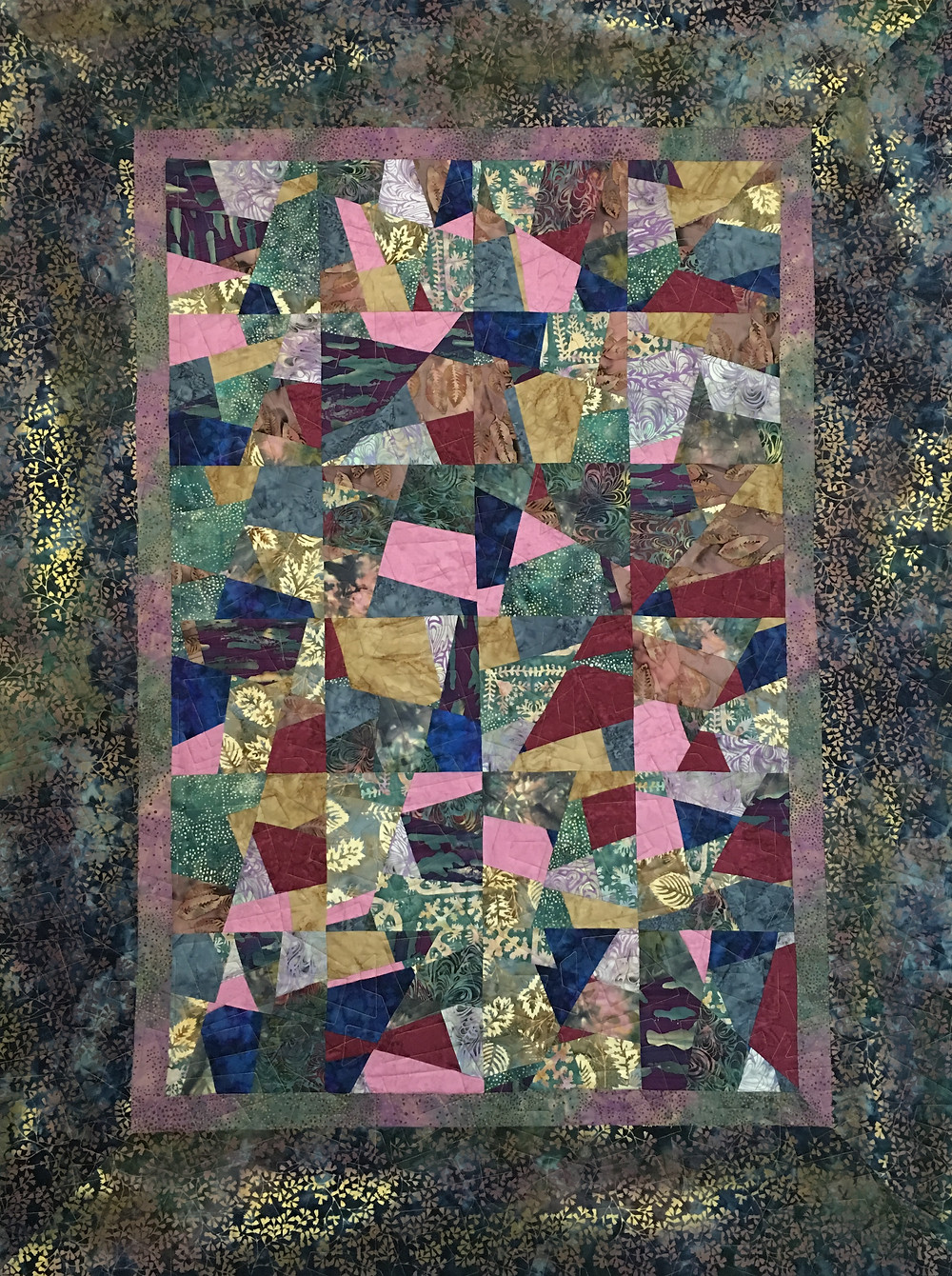 Annie's modern scrappy quilt in a variety of fabrics