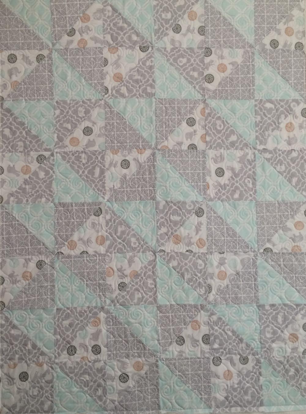 Julianna Baby Quilt in Flannel