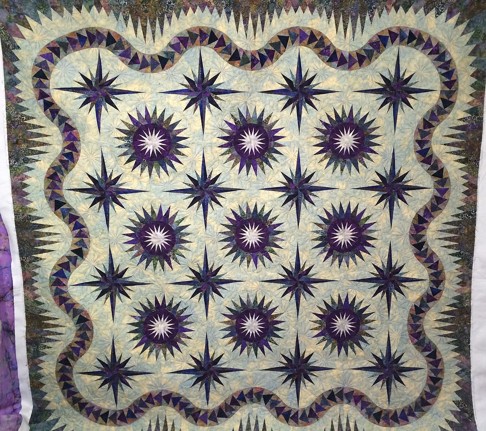 Thistle Pods Quilt by Pam Okane