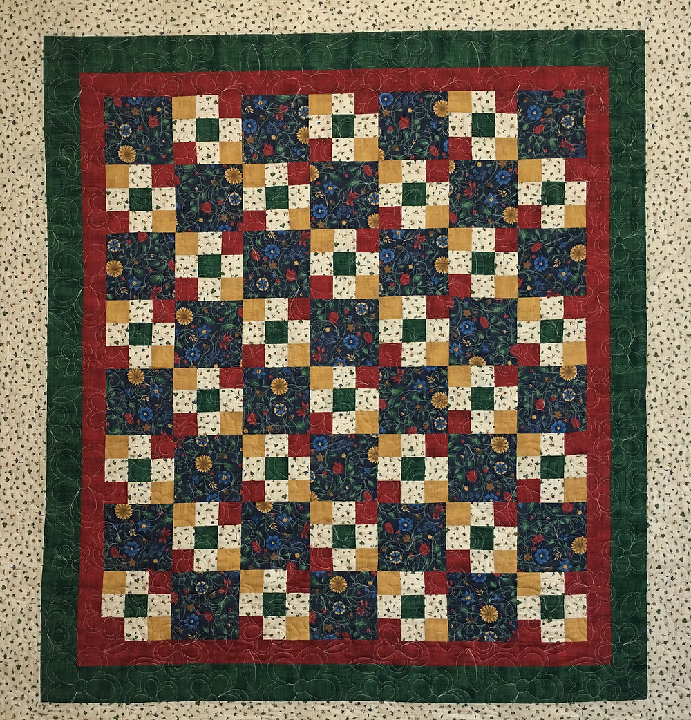 Nine Patch quilt by Sandra Mitchell